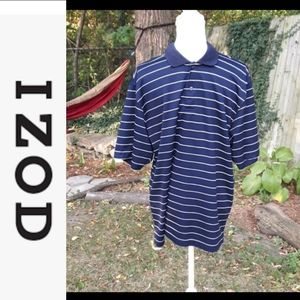 Size L IZOD  striped Polo golf shirt